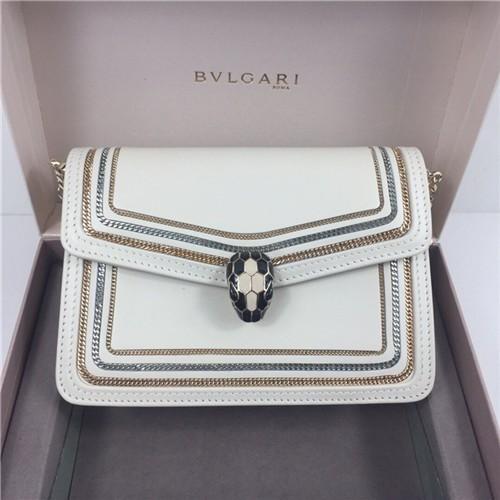 불가리 세르펜티 다이아몬드 블라스트 미니 체인 숄더백 BV28655-2 - 레플킹