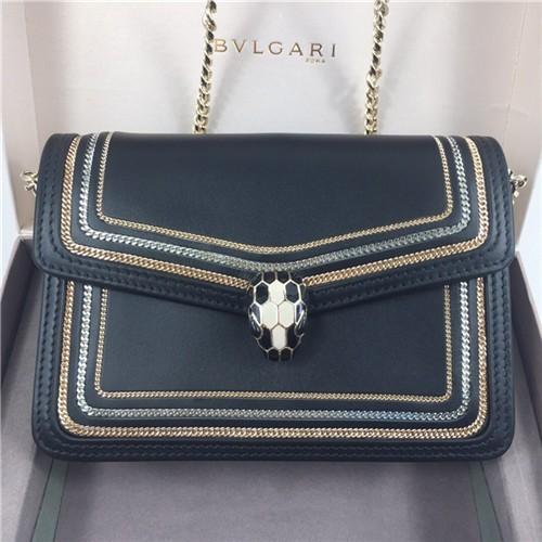 불가리 세르펜티 다이아몬드 블라스트 미니 체인 숄더백 BV28655-1 - 레플킹