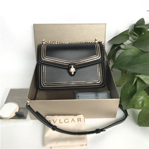 불가리 세르펜티 다이아몬드 블라스트 체인 숄더백 BV28656-1 - 레플킹