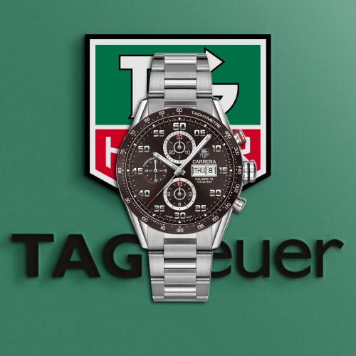태그호이어 Carrera TOP Grade Quality Day-Date Black Dial Chronograph Automatic Movement - 레플킹