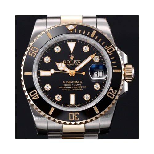 롤렉스 Submariner Gray Dial Diamonds Inde X Automatic Movement - 레플월드