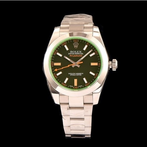 롤렉스 Milgauss Steel GV Green Black Dial Automatic Movement - 레플월드